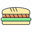 bakery, bread, burger, cheeseburger, fast food, food, hamburger icon