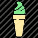 cone, cream, cupcake, dessert, ice, ice cream, sweet icon