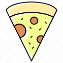 baked italian dish, food, lunch, meal, pizza, pizza pie, pizza slice icon