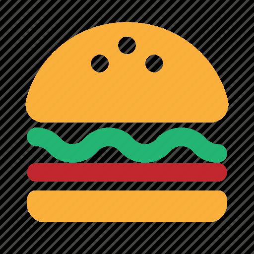 burger, fast, fastfood, food, ham, hamburger, solid icon