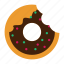dessert, doughnut, food, solid, sweet icon