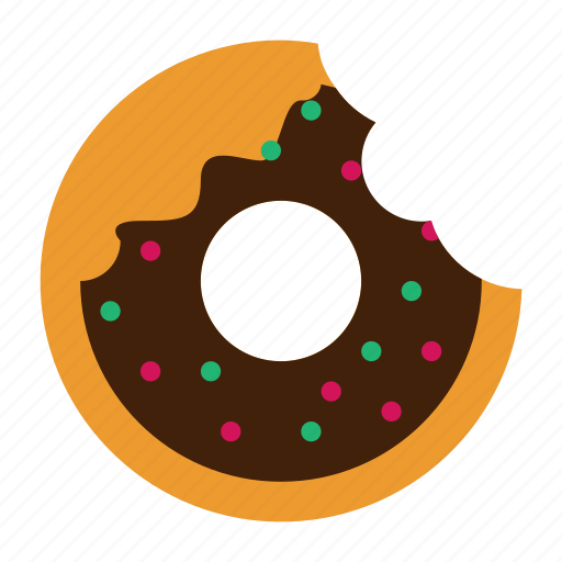 dessert, doughnut, food, solid, sweet icon
