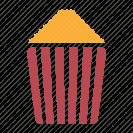 corn, food, fried, movie, pop, popcorn, solid icon