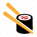 chopsticks, fish, food, japan, meat, solid, sushi icon