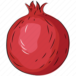 fruit, healthy diet, nutrition, pomegranate, punica granatum icon