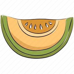 fruit, healthy diet, melon, melon slice, nutrition, organic icon