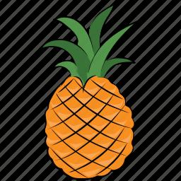 ananas, ananas comosus, diet, fruit, pineapple icon