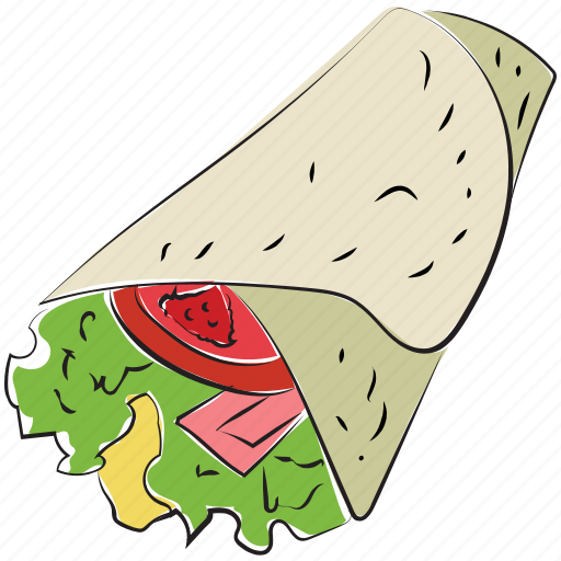 arabic food, fast food, junk food, paratha roll, shawarma icon