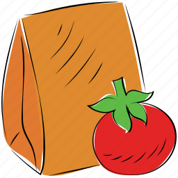 seed bag, tomato, tomato ketchup, tomato seed icon