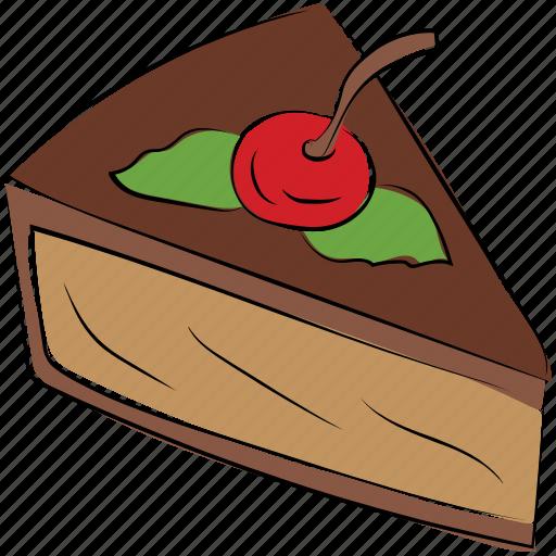 cake, cake piece, dessert, frozen dessert, sweet icon