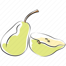 fruit, healthy diet, nutrition, organic, pear, pomaceous icon