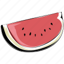 fruit, healthy diet, nutrition, organic, watermelon, watermelon slice