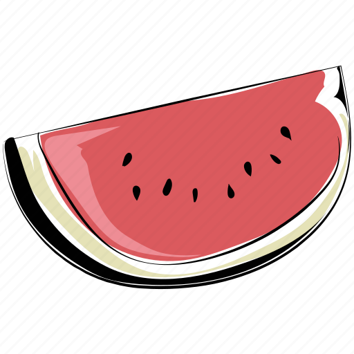 fruit, healthy diet, nutrition, organic, watermelon, watermelon slice icon