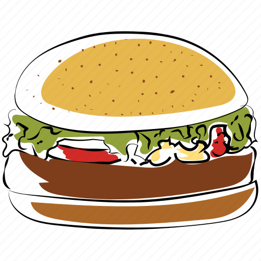 burger, fast food, hamburger, junk food icon