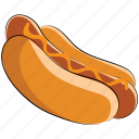 barbecue, fast food, hot dog, hotdog sandwich, junk food, sausage icon