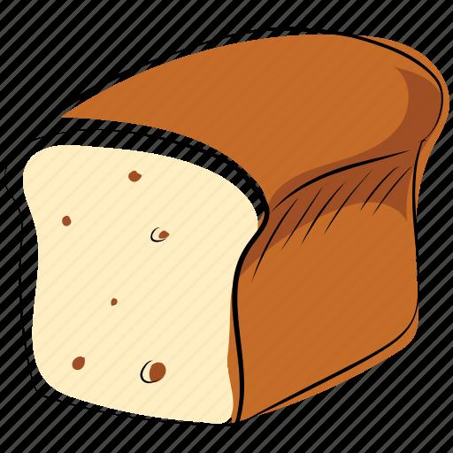 bakery food, bead, bread loaf, breakfast, staple food icon