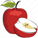 apple, diet, fruit, healthy diet, organic, pomaceous fruit icon