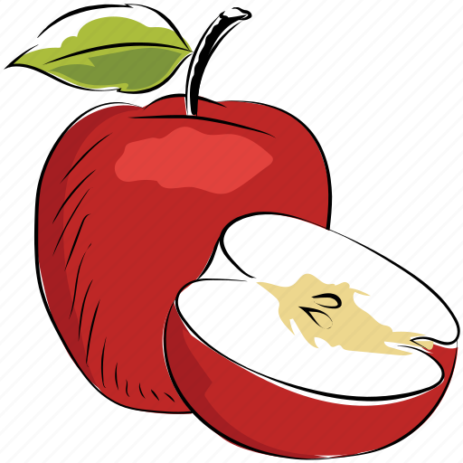 apple, diet, fruit, healthy diet, organic, pomaceous fruit icon