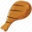 chicken, chicken roast, leg piece, meat, thigh meat, turkey meat icon