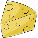 cheese, cheese pie, milk product, dairy product icon