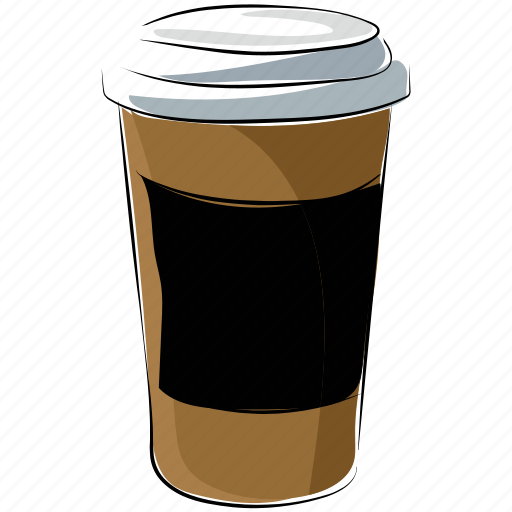 coffee cup, cold coffee, disposable cup, drink, takeaway coffee icon