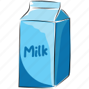 milk, milk bottle, milk can, milk container, milk pack icon