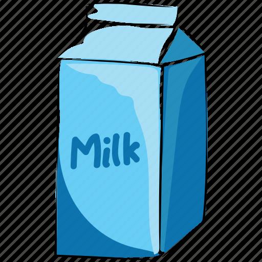 milk, milk bottle, milk can, milk container, milk pack icon