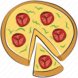 fast food, italian food, junk food, pizza icon