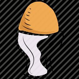 egg, egg cup, egg holder, egg server, egg storage icon
