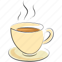 coffee, coffee cup, cup, hot drink, hot tea, tea, tea cup icon