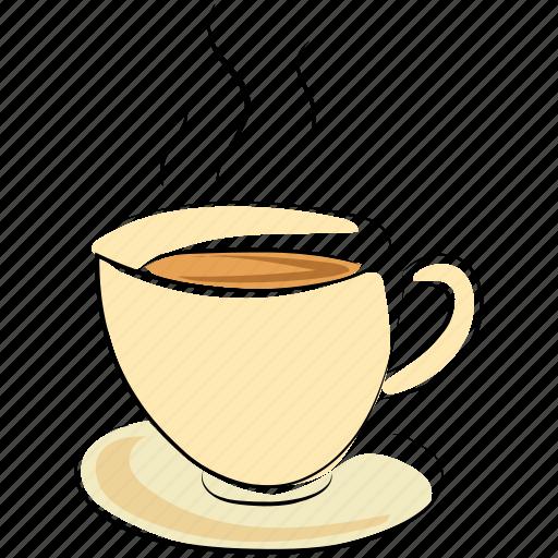coffee, coffee cup, cup, hot drink, hot tea, tea, tea cup icon
