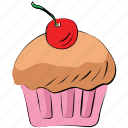 bakery food, cake, cupcake, dessert, fairy cake, muffin icon
