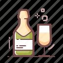 alcohol, champagne icon