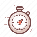 delivery, timer icon