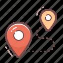 destination, location icon