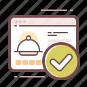delivery, restaurant, website icon