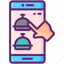 custom, food, online, order icon