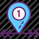delivery, location, zone icon