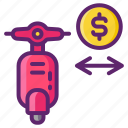 charge, delivery, minimum icon