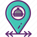 food, location, near, takeout icon