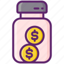 included, money, tips icon