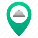 cafe, cloche, food, location, pin, restaurant