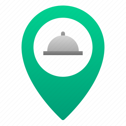 Cafe, cloche, food, location, pin, restaurant icon - Download on Iconfinder
