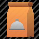 bag, cafe, food, mart, paper, restaurant