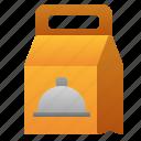 bag, cafe, cloche, delivery, food, paper, restaurant