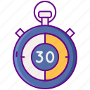 delivery, guarantee, minutes, time icon