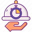 estimated, food, ready, time icon