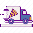 delivery, food, pizza, truck