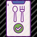 fork, included, spoon, utensils