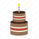 birthday, birthdaycake, cake, candle, celebration, dessert, sweet icon